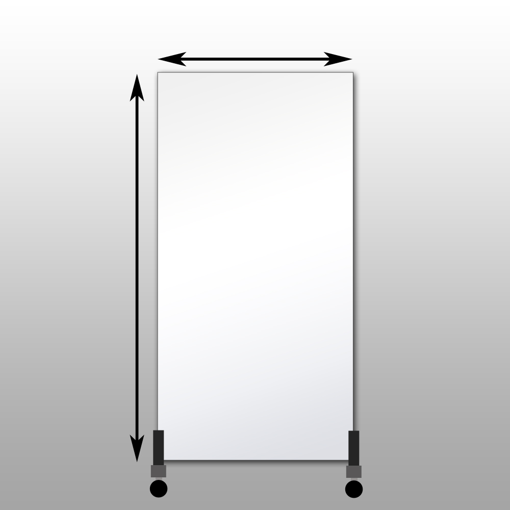 Mirror Stand With Long Side Of Mirror Mounted Vertically